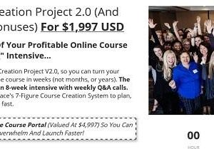 """Fast Track The Launch Of Your Profitable Online Course With This 8-Week """"Doing"""" Intensive... Get lifetime access to The Course Creation Project V2.0, so you can turn your Genius Zone into a profitable online course in weeks (not months, or years). The Course Creation Project V2.0 is an 8-week intensive with weekly Q&A calls. Inside, you'll uncover and apply Grace's 7-Figure Course Creation System to plan, build, and launch your own course fast. What You Get: Module #1 Online Courses 101 Discover my favourite competitor research tools, pricing and refund models, and myths and mindset training… So you know how to get started with your own online course journey. Module #2 Your Course Roadmap How to create a valuable high ticket course offer you can sell in a matter of days using my A-Z Formula… So you can get your course out of your head, and start getting paid for it fast. Module #3 Fast-tracked Content Creation Streamline your content creation with my 4-Day Formula. From deciding on the perfect delivery style, to filming hacks, to creating your production schedule… you can skip the guesswork and get Doing fast. Module #4 Building Your Course A step-by-step walkthrough of your course's tech set-up… From design, to video editing, to onboarding… youcan make setting your course up and running (and selling) a total breeze. Module #5 Your Irresistible Course Offer Design a course your market can't say """"no"""" to. Discover my profit-raising upsells, downsells, and course inclusions… so you can double your cart value without doubling your clients. Module #6 Free Traffic Strategies Don't pay a cent to fill your course with students, but instead harness the power of email marketing and Facebook… so you can fill your course with committed, excited students who already know, like, and trust you. 8x Weekly Coaching Calls with Grace & her Expert Team… Get your burning questions answered and any stucks overcome fast with these live Q&A sessions. Swipe Grace's actual high-converting sa"""